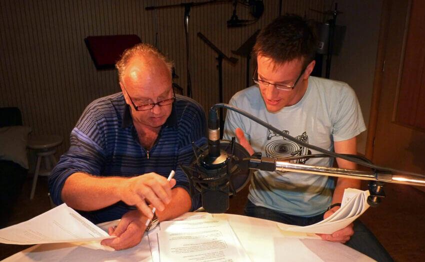 Christian Tasche und Aeneas Rooch im Studio (Foto: Rooch)