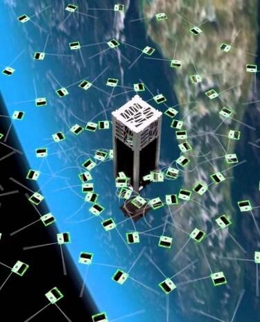 Auswurf der Mini-Satelliten (Bild: Zac Manchester/KickSat)