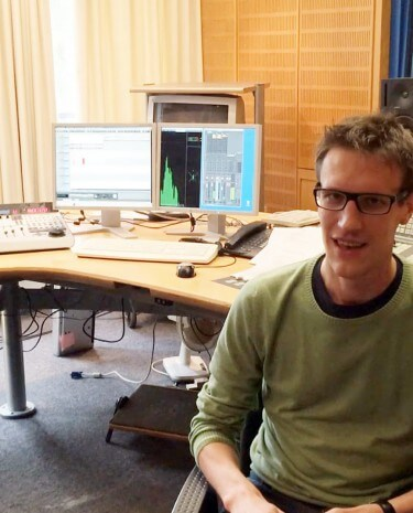 Aeneas Rooch im WDR-Studio (Foto: Rooch)
